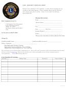 District Officer Crest Order Form - Lions Clubs International