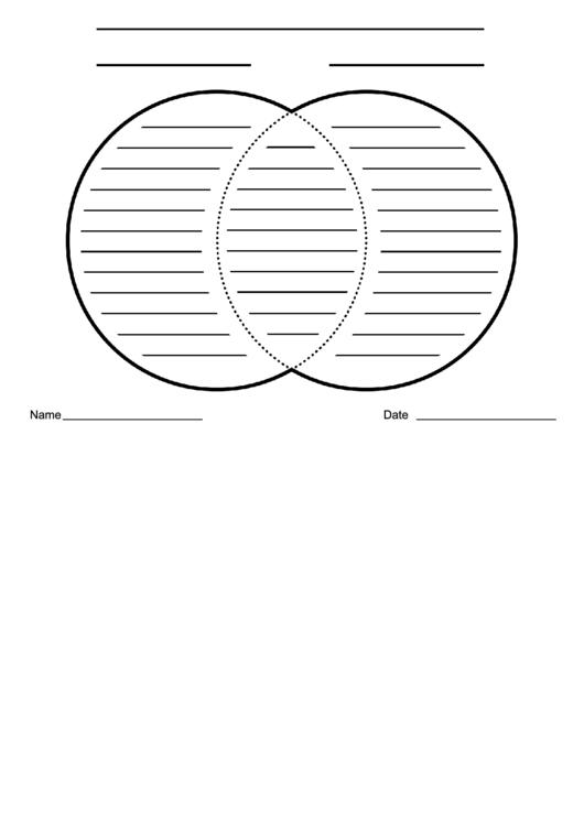 Venn Diagram Worksheet Black And White Lined Printable Pdf Download