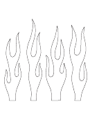 Small Flame Outline Templates