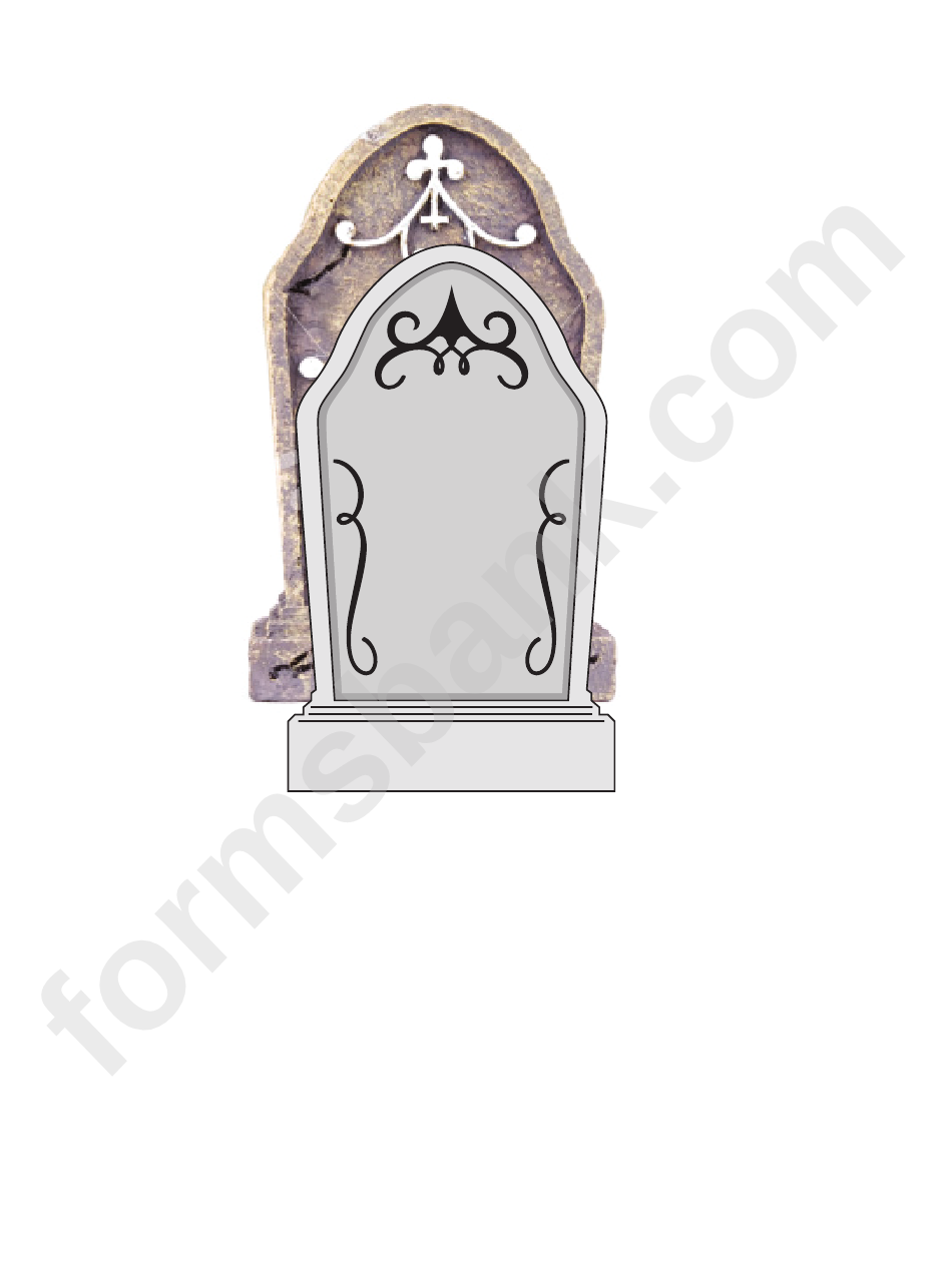 photograph about Tombstone Template Printable titled Tombstone Template printable pdf down load