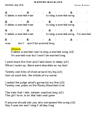 Worried Man Blues - Stanley Brothers - Key Of A Chord Chart