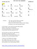 Why Did You Wander - Bill Monroe - Key Of G Chord Chart