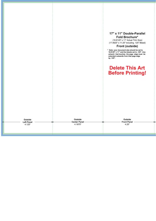 X Doubleparallel Fold Brochure Template Printable Pdf Download - Double parallel fold brochure template
