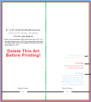 8 X 9 Half-fold Brochure Template