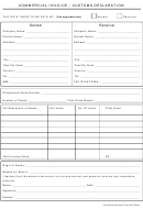 Commercial Invoice Template/customs Declaration