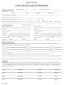 State Of Florida - Child Care Application For Enrollment Form