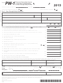 Form Pw-1 2015 Wisconsin Nonresident Income Or Franchise Tax Withholding On Pass-through Entity Income