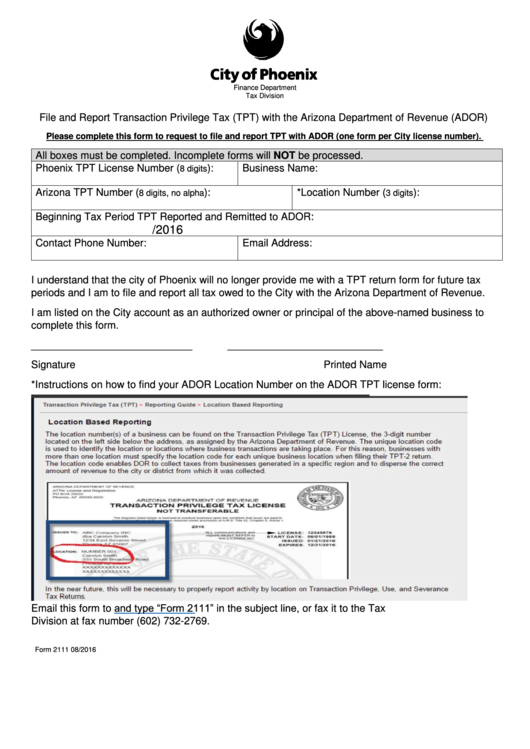 Top 14 Arizona Tpt Form Templates free to download in PDF, Word ...