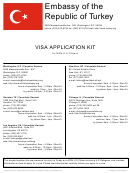 Visa Application Form - Embassy Of The Republic Of Turkey Washington, D.c