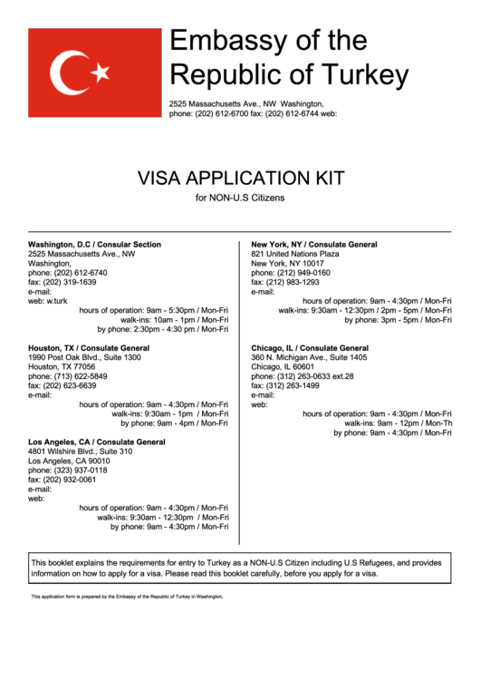 Fillable Visa Application Form Embassy Of The Republic