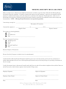 Missing Receipt Declaration Form - Berea College
