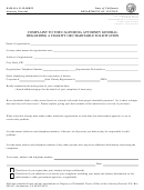 Complaint To The California Attorney General Form