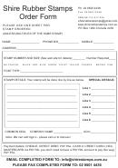 Rubber Stamp Order Form