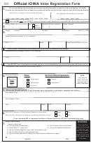 Official Iowa Voter Registration Form