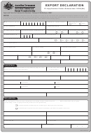 Export Declaration Form