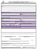 Affidavit Regarding A Change Of Name