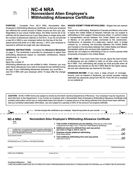 Top Nc-4p Form Templates free to download in PDF, Word and Excel ...