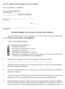 Interim Order Allocating Income And Expenses