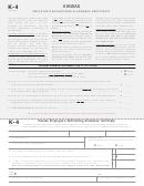 Form K-4 - Kansas Employee's Withholding Allowance Certificate