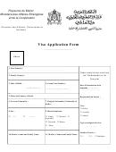 Visa Application Form - Royaume Du Maroc Ministere Des Affaires Etrangeres Et De La Cooperation