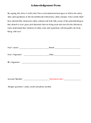 Safety Rules And Regulations Employee Acknowledgement Form - Microfabrication Laboratory