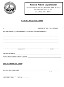 Report Request Form