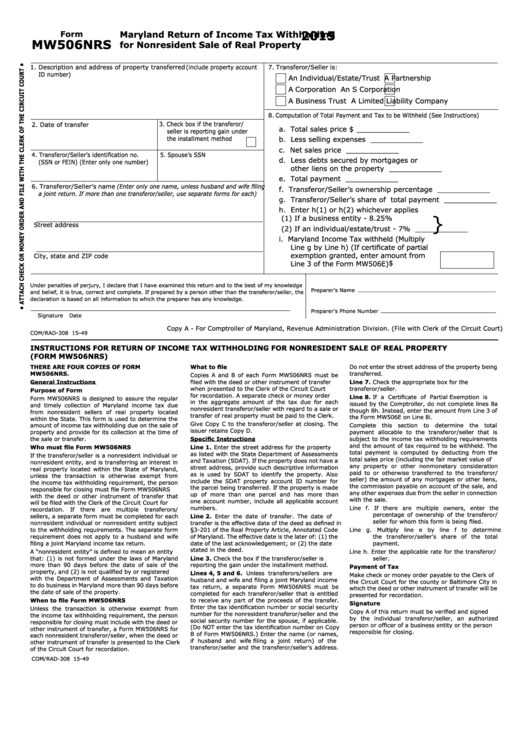 Maryland Personal Property Tax Return