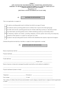 Form 11, Application For Registration, Conditional Registration, Renewal Of Registration