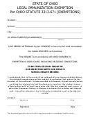 State Of Ohio Legal Immunization Exemption Per Ohio Statute 3313.671 (exemptions)