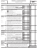 Schedules A&b (form 1040) - Itemized Deductions, Interest And Ordinary Dividends - 2007