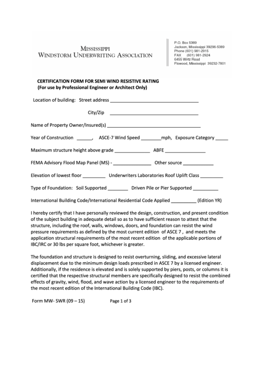 top wind mitigation form templates free to download in pdf