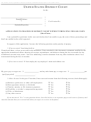 Application To Proceed In District Court Without Prepaying Fees Or Costs - United States District Court