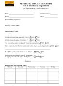 Modeling Application Form