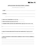 Glc Form 1a - Application For Solicitors' Licence Form