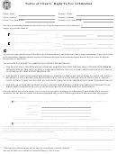Notice Of Client's Right To Fee Arbitration