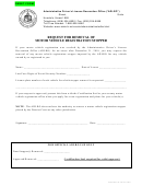 Form 103 - Request For Removal Of Motor Vehicle Registration Stopper