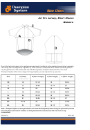 Champion System Air Pro Jersey, Short Sleeve Size Chart