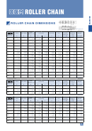Ocm Roller Chain Dimensions Chart