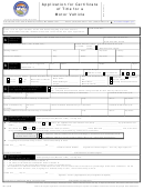 Form Mv-1 - Application For Certificate Of Title For A Motor Vehicle