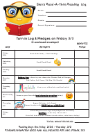 Sierra Read-a-thon Reading Log