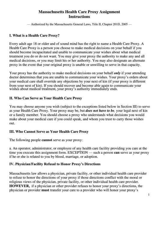 Top 6 Health Care Proxy Form Ma Templates free to download in PDF format