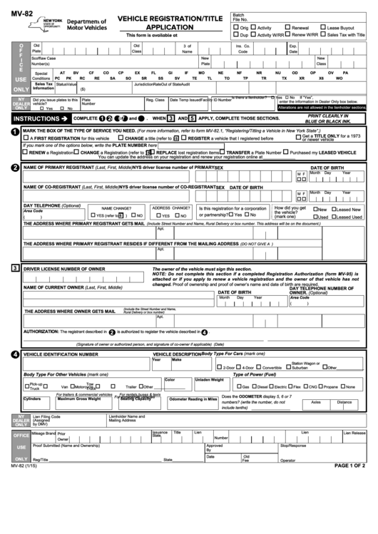 Top 5 Mv-82 Form Templates free to download in PDF, Word and Excel ...