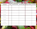 Just Eat It Food Waste Log Sheet