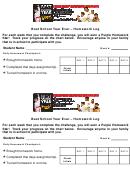 Best School Year Ever - Homework Log Template (sample)