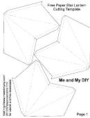 Paper Star Lantern Cutting Template