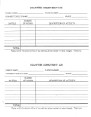 Volunteer Commitment Log Template