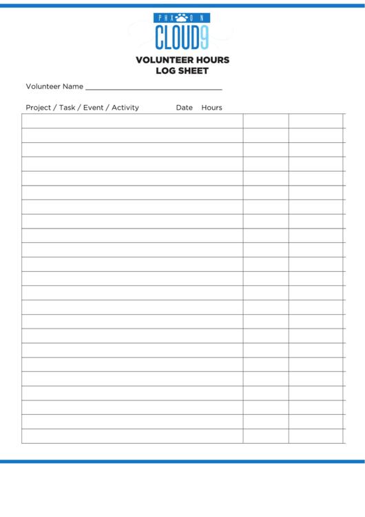 Volunteer Hours Template. volunteer hours timesheet forms and ...