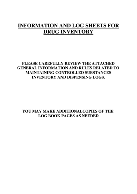 controlled substance inventory log printable pdf download