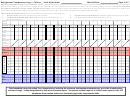 Vaccine Refrigerator Temperature Log - Celsius