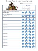 Rising First Grade Reading Log